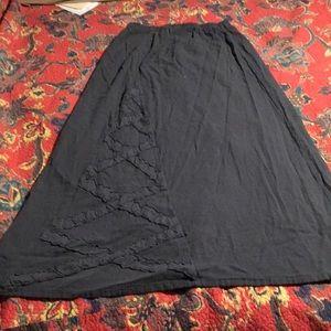 Oh my gauze! Skirt gray sz 1 gauze cotton